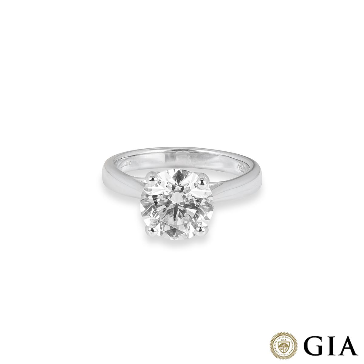White Gold Round Brilliant Diamond Ring 2.71ct M/VS2 XXX
